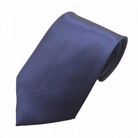 Mørkeblåt bredt slips