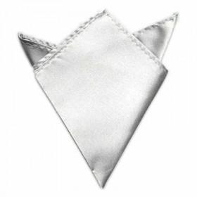 Sølvfarvet lommeklud