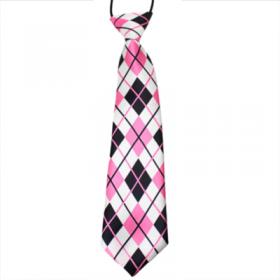 Ternet lyserødt slips til børn