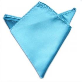 Lyseblå lommeklud