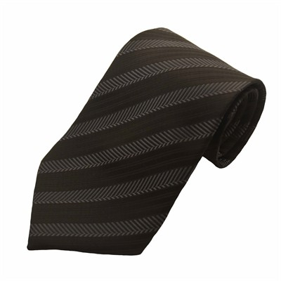 Silkeslips - sort med mørkegrå striber