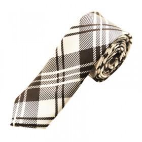 Mønstret hvidt slips