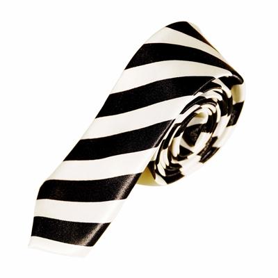 Stribet hvidt slips