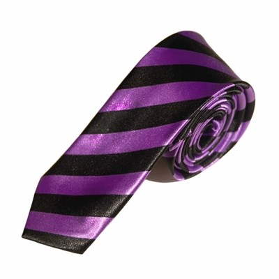 Stribet lilla slips