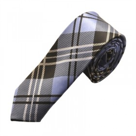 Mønstret blåt slips