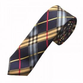 Mønstret mørkeblåt slips
