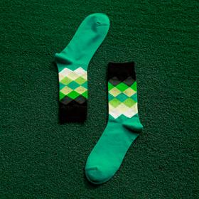 Grønne sokker med mønster