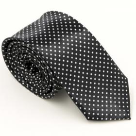 Sort slips med hvide prikker