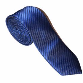 Luksusslips - blåt med striber