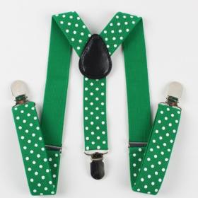 grønneseler med hvide prikker til børn