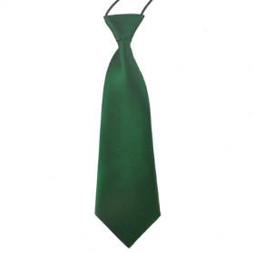 Mørkegrønt slips til børn