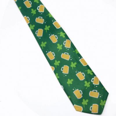 Grønt juleslips med fadøl